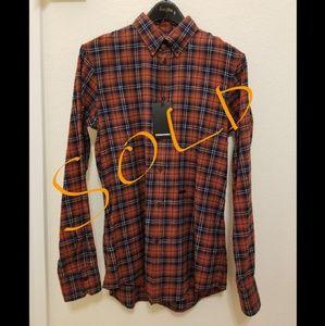 DSQUARED2 Multi color Brown/Blue Men's Shirt 48
